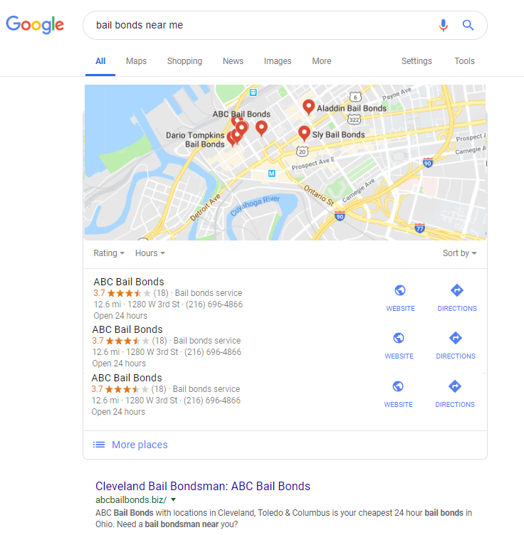 "New Google Results for ""Bail Bonds Near Me"""